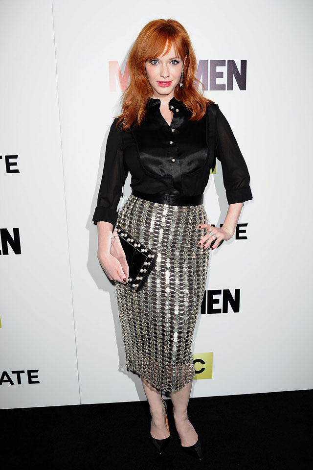 HOLLYWOOD, CA - APRIL 02:  Actress Christina Hendricks attends the season 7 premiere of