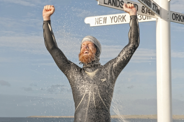 Sean Conway first man to swim entire length of British Isles