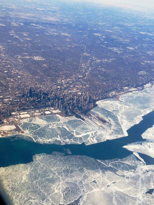 View of Lake Michigan as seen on Sunday, March 9, 2014 and shot by Brianna Nelson.