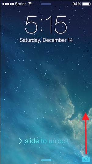 Check Out This Cool And Pointless IPhone Lock Screen Trick In IOS 7