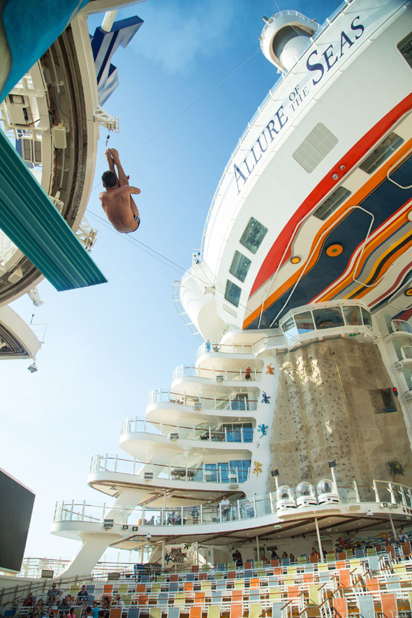 Topless pictures of Tom Daley diving on Royal Caribbean cruise ship
