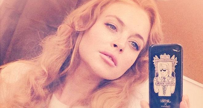 Lindsay Lohan Instagram Selfie, August 13, 2013