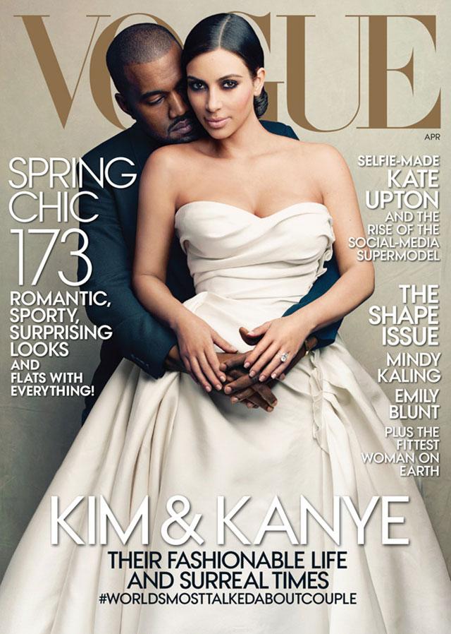 kim kardashian kanye west vogue cover