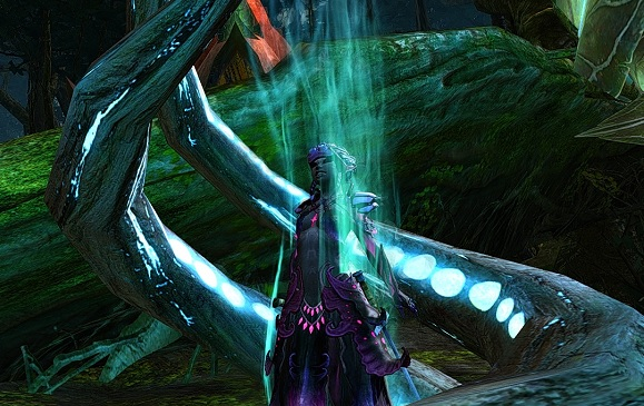 Sylvari being abducted by aliens.