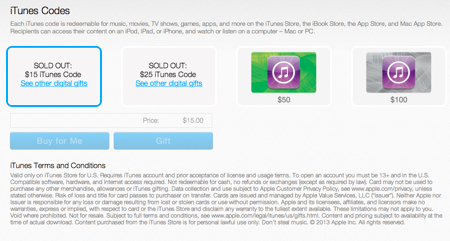PayPal starts selling iTunes digital gift cards, sells out of $15 ...