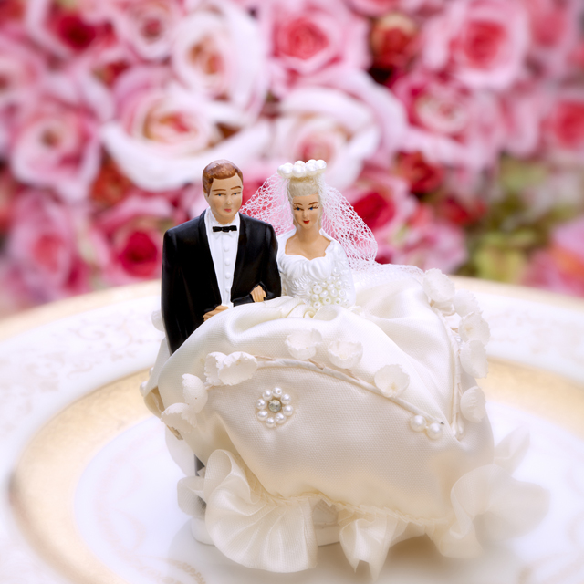 Wedding Day Cake Figurines Bride And Groom