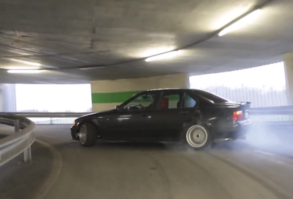 BMW M3 parking drift