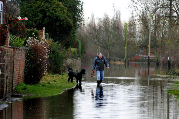 Wet weather in Barrow upon Trent, Derbyshire, as a wet and stormy weekend could mark the end of one of the wettest years in history in Britain, with no respite expected for the saturated south west.