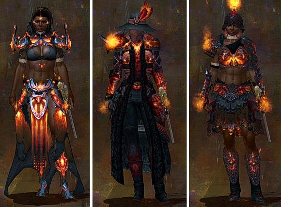 Flame armor light, medium, and heavy