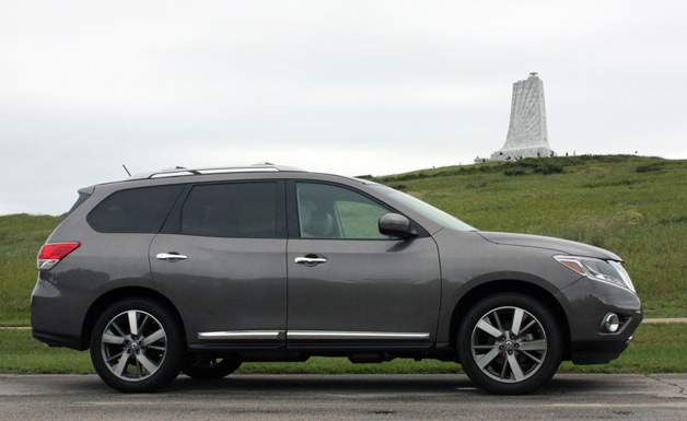 Long-term 2013 Nissan Pathfinder in OBX with Wright Bros. monument