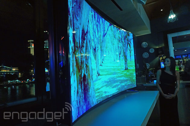 tv 85 inch. samsung\u0027s 105-inch curved uhd tv and 85-inch bendable screen hit retail this year tv 85 inch