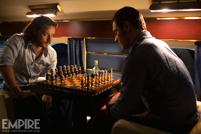 'x-men days of future past' new photos James McAvoy, Michael Fassbender