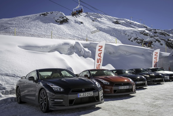 Nissan GT-R ice driving