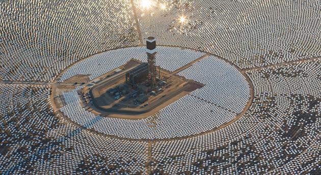 California's largest solar plant