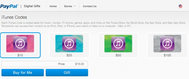 PayPal launches digital gift card store, boasts iTunes as its ...