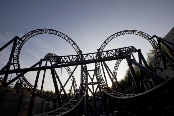 File photo dated 09/05/13 of The Smiler rollercoaster at Alton Towers Resort in Staffordshire, that has been forced to shut down after reports that a bolt was seen to have fallen from the ride.