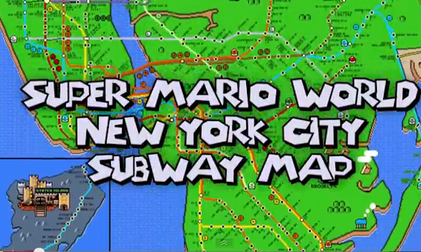 New York City Subway Map Gets the Super Mario World Treatment - AOL