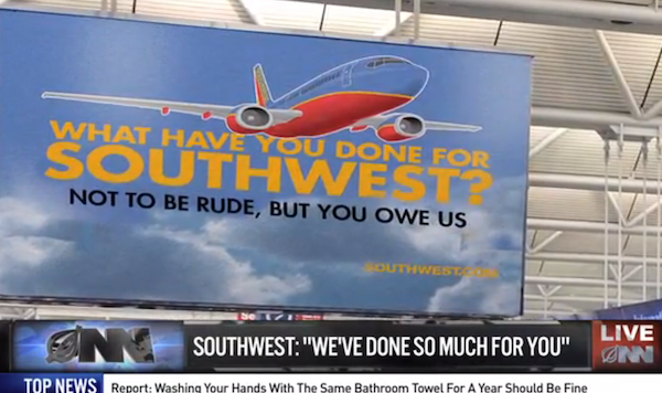 The Onion reports Southwest Airlines launches
