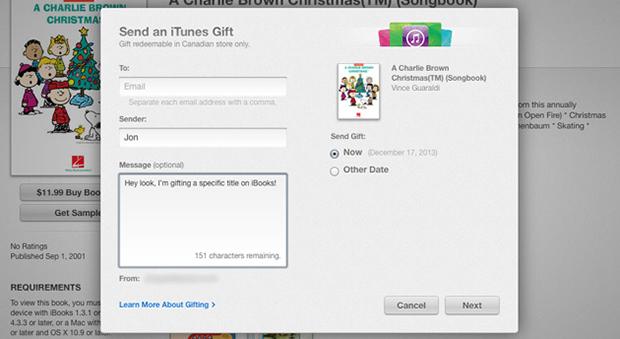 Mac 与 iOS 使用者现在可将 iBooks 电子书当礼品赠送咯!还能附上祝福讯息呢
