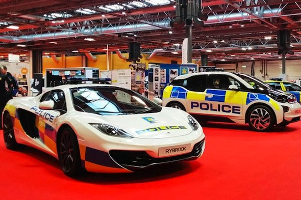 british police display 205mph mclaren 12c at autosport international