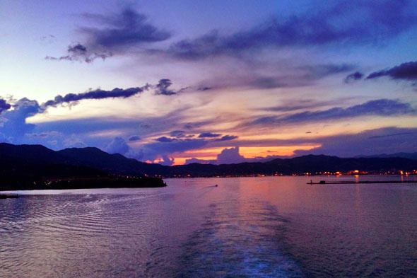 Sunset aboard the Disney Magic
