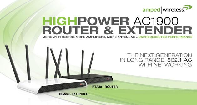 Amped Wireless 推出全新的 AC1900 路由器及訊號延伸器