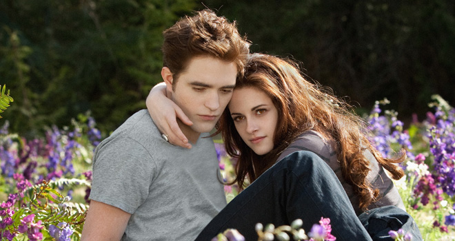 Robert Pattinson and Kristen Stewart in 'Twilight: Breaking Dawn - Part 2'