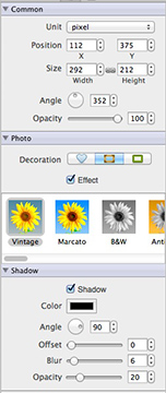 Picture Collage Maker Effect Panel