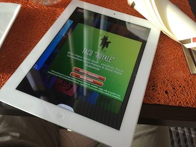 QSine restaurant menu on iPad aboard Celebrity Infinity cruise ship