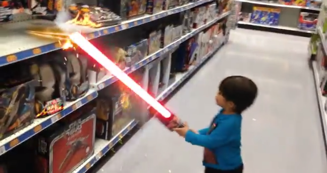 Toddler Jedi Kid Lightsaber Video
