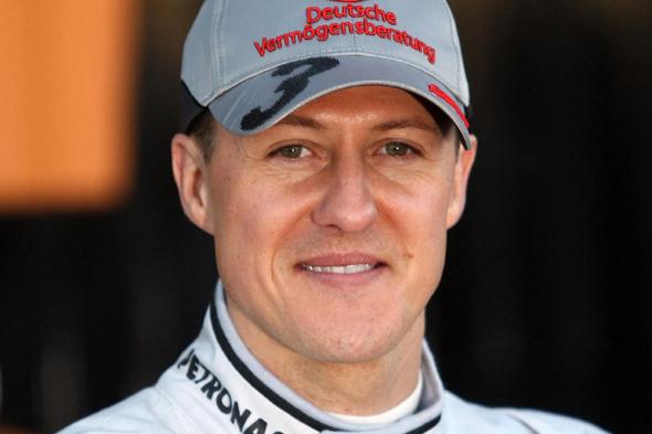 File photo dated 01/02/2010 of Mercedes GP driver Michael Schumacher during a photocall at the Circuit de la Comunitat Valenciana Ricardo Tormo, Valencia.