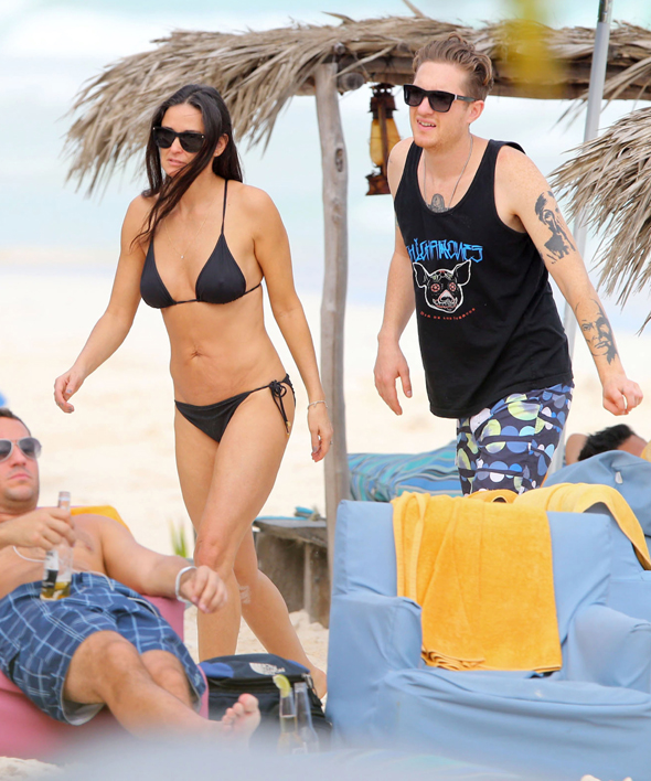 December 29, 2013  *STRICTLY NO WEB Till 5pm GMT 01/01/14* ** Min Fee ?200 For set Online / Web **  *STRICTLY NO WEB Till 5pm GMT 01/01/14*  Demi Moore and daughter Rumer Willis continue to reconcile their relationship during a tropical vacation in Mexico with their young boyfriends. While 25-year-old Rumer snuggled with her former ex Jayson Blair, her hot-bodied 51-year-old cougar mom Demi Moore flaunted her bikini body in front of some eager older male callers but shrugged them choosing to share in public displays of affection with her much younger tattooed new unidentified beau. Despite the bizarre double date with boyfriends from the same generation, mother/daughter duo Demi and Rumer seemed to enjoy their time together while on holiday.   *STRICTLY NO WEB Till 5pm GMT 01/01/14*  ** Min Fee ?200 For set Online / Web **  Exclusive All Rounder UK RIGHTS ONLY Pictures by : FameFlynet UK ? 2013 Tel : +44 (0)20 3551 5049 Email : info@fameflynet.uk.com