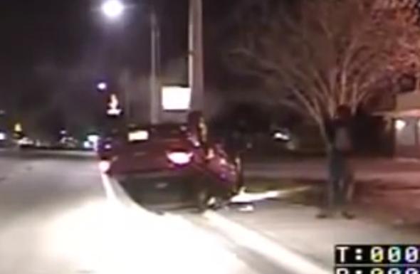 Texing driver flips car