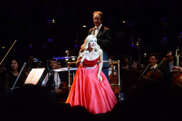 LONDON, ENGLAND - DECEMBER 09:  Katherine Jenkins performs at The Royal Albert Hall on December 9, 2013 in London, England.  (Photo by Dave J Hogan/Getty Images)