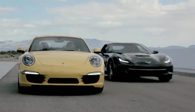 【ビデオ】6万ドルの「コルベット」と、オプション代だけで6万ドルの「911」を比較!