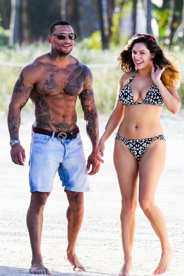 UK CLIENTS MUST CREDIT: AKM-GSI ONLY<BR/> British model Kelly Brook and boyfriend David McIntosh show off their toned beach bodies as they spend the day at the Shore Club in Miami. <P> Pictured: Kelly Brook and David McIntosh <P><B>Ref: SPL692526  020214  </B><BR/> Picture by: AKM-GSI / Splash News<BR/> </P><P> <B>Splash News and Pictures</B><br> Los Angeles: 310-821-2666<br> New York: 212-619-2666<br> London: 870-934-2666<br> photodesk@splashnews.com<br> </P>