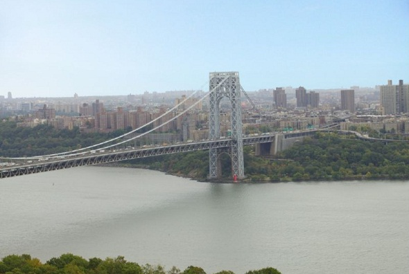 George Washington Bridge viewed from Fort Lee