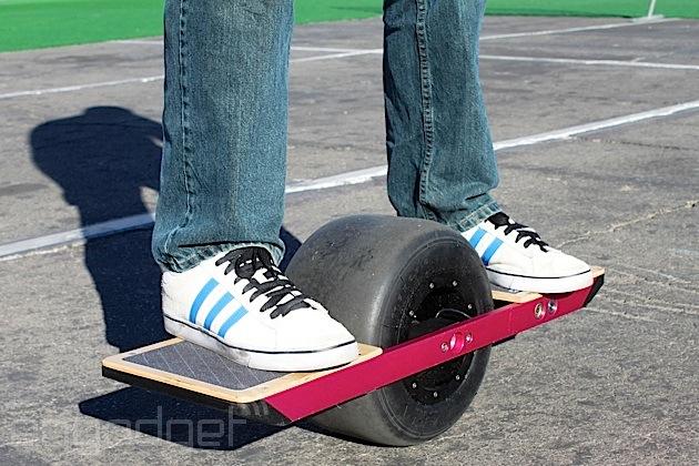single wheel skateboard