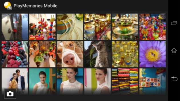 Photo browsing in Sony's PlayMemories Mobile