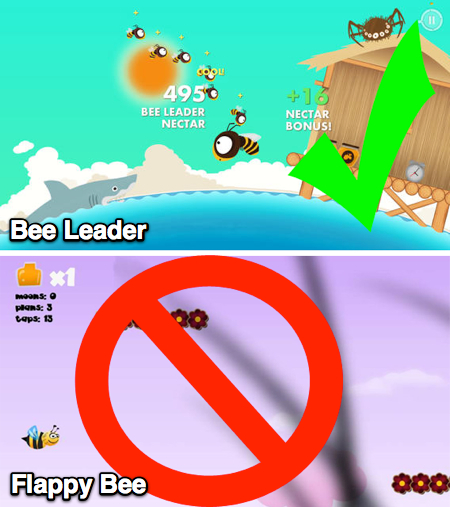 Comparison of Bee Leader and Flappy Bee