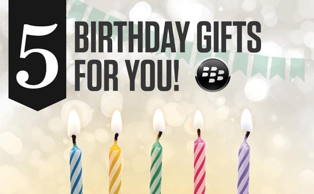 BlackBerry 為慶祝 BlackBerry World 五歲生日,向大家免費送出多款 app