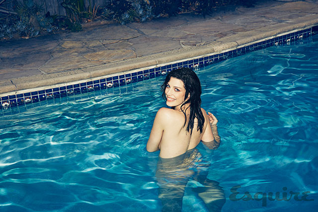 Mad Mens Jessica Pare Poses Nude In A Pool For Esquire Magazine