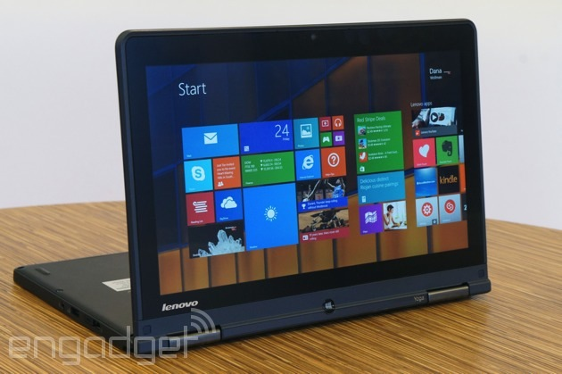 c87fc798930a05 Unlike the Yoga 2 Pro, which comes standard with a 3,200 x 1,800 screen,  the ThinkPad Yoga starts with a 1,366 x 768 Gorilla Glass panel, though you  can ...