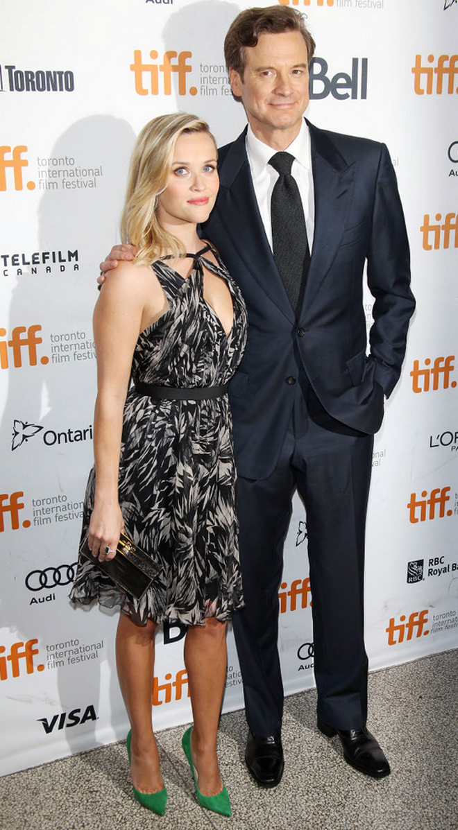 Reese Witherspoon and Colin Firth at the 2013 TIFF Premiere of 'Devil's Knot'