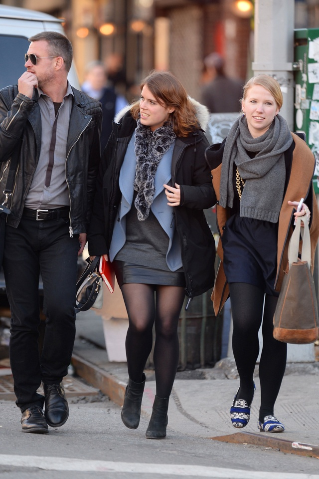 Princess-Eugenie-leather-miniskirt-new-york-street-style