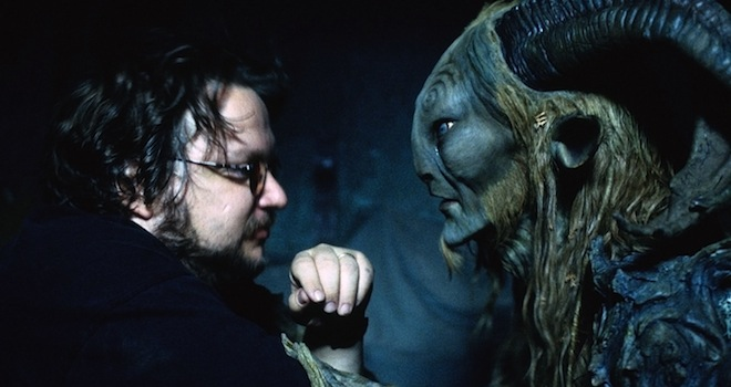 PAN'S LABYRINTH, (aka EL LABERINTO DEL FAUNO), director Guillermo del Toro, Doug Jones, on set, 2006. ©Picturehouse/courtesy Everett Collection