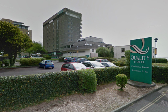 Google Maps image of Quality Hotel Plymouth