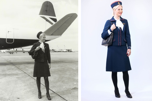 denise-van-outen-british-airways-vintage-air-hostess-uniform