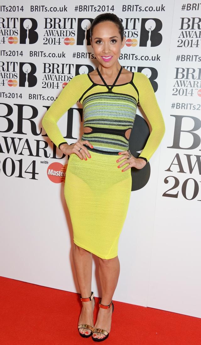 myleene-klass-see-through-yellow-dress-brits-2014