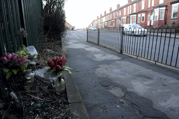 GV of the scene of the crash. Paul Davies from Warrington, Cheshire lost his wife Donna when she was mown down and killed as she walked her youngest daughter home from a dance class. He has slammed the justice system after her killer Balbinder Dhillon walked free from court with just a two year suspended jail sentence. Donna was walking her 10-year-old daughter home when Dhillon veered across the road and ploughed into Mrs Davies on the pavement. Her daughter escaped uninjured when Mrs Davies threw her out of the way but she was catapulted around 10ft into the air before toppling into a nearby garden where she died instantly. It was estimated that Dhillon was travelling up to 34mph on the 30mph road on 25th April last year at around 6-45p.m. Dhillon, a former director of a landlord and letting agency, was charged with death by dangerous driving but claimed he had blacked out at the wheel after collecting his two sons from kickboxing.